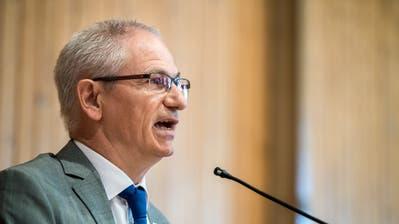 Ueli Fisch (GLP) an der Sitzung des Grossen Rates des Kantons Thurgau vom 20. Mai 2020 in der Rüegerholzhalle in Frauenfeld. (Bild: Reto Martin)