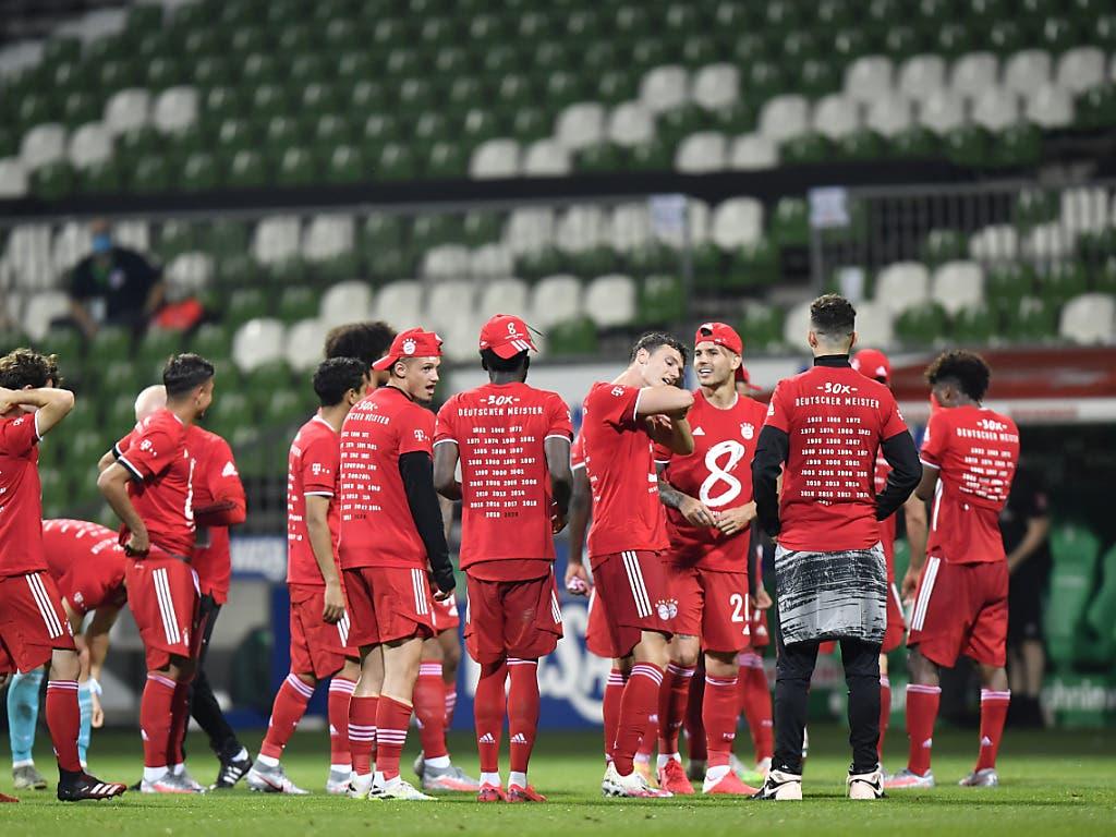 Spezieller Moment: Die Bayern feiern ihren achten Meistertitel in Folge und tun dies in Stille