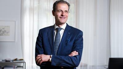 Regierungsrat und Finanzdirektor Reto Wyss in seinem Büro in Luzern.Fotografiert am 08.10.2019 (Dominik Wunderli)