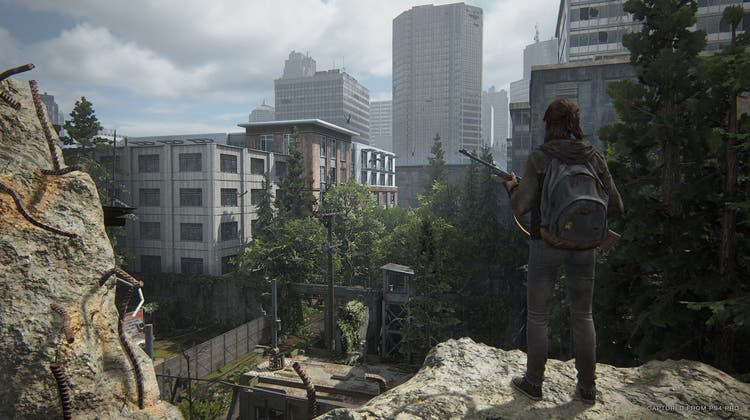In «Last of Us Part II » erkundet Ellie die Ruinen von Seattle. (PD)
