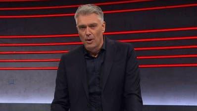 «Haben die Wirkung der Sendung unterschätzt»: Moderator Sandro Brotz. (Screenshot/SRF)