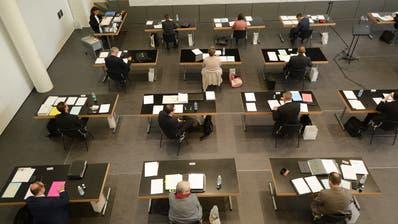 Die letzte Kantonsratssitzung fand in der Obwaldner Aula Cher statt. (Bild: Urs Hanhart (28.5.2020))