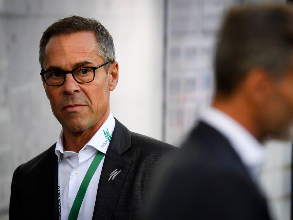 Zusammen mit St. Gallens jetzigem Präsidenten Matthias Hüppi (links) wirkte Alain Sutter viele Jahre als TV-Experte für SRF in Sachen Nationalmannschaft