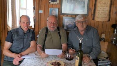 Christian Stebler, Sepp Schön und Franz Hess (von links). (Bild: PD)