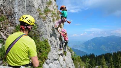 Der Klettergarten Ergglen auf Klewenalp. (Bild: PD (Klewenalp, 9. Juli 2016))