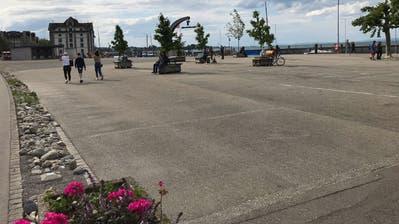 Der Kabisplatz wird bespielt. Auf dem Kies im westlichen Teil wird das Projekt Zelt-Werk stattfinden. (Bild: Jolanda Riedener)
