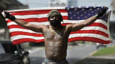 Die Proteste nach dem Mord an George Floyd sorgen für grosse Unruhen in den USA. (Max Becherer / AP)