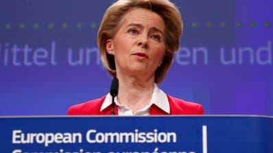 Die EU-Kommission um Präsidentin Ursula von der Leyen dürfte das neue Schweizer Datenschutzgesetz anerkennen. (Bild: EPA)