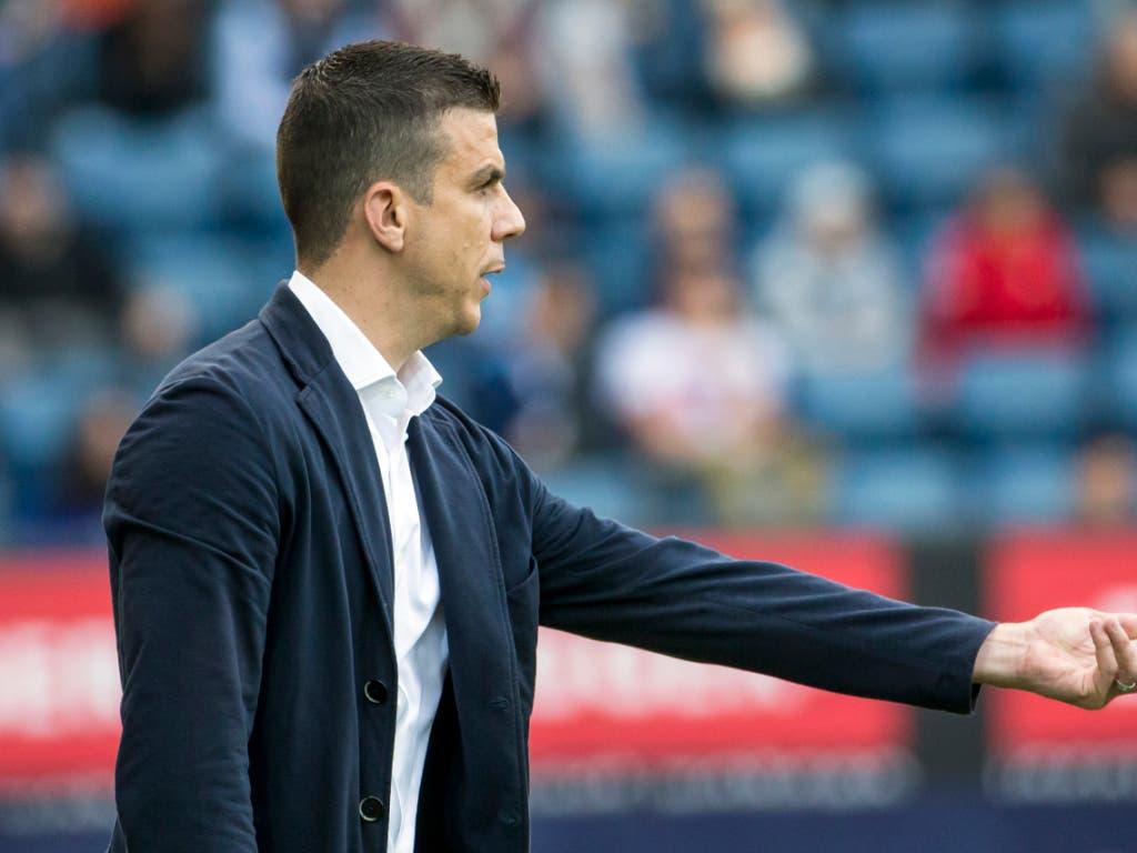Trainer Bruno Berner und der SC Kriens lassen sich in der Challenge League nicht abschütteln