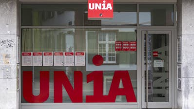 Der Eingang zum Gewerkschaftshaus der Unia in Basel (Keystone)