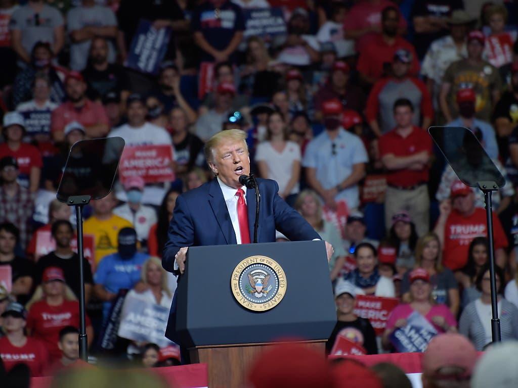 Kommen die Demokraten an die Macht, haben Randalierer das Sagen: US-Präsident Donald Trump bei der Wiederaufnahme des Wahlkampfs in Tulsa.