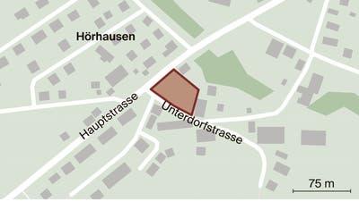 In Hörhausen an der Unterdorfstrasse könnten auf einem Grundstück, das politisch Homburg gehört, Alterswohnungen entstehen. (Bild: Andrea Stalder)