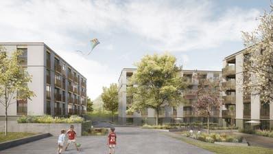 Die Visualisierung der geplanten Mehrfamilienhäuser. ((Bild: PD))