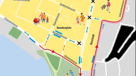 Verkehrsführung in der Stadt Zug: «Die Projekte ziehen sich zu lange hin»