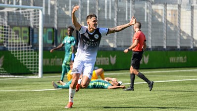 Eris Abedinijubelt in Zukunft für den FC Lugano. (Bild: Gianluca Lombardi)