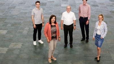 Marc Rüdisüli, Marlise Bänziger, Paul Rutishauser, Gallus Müller und Anja Scholz. (Bild: Donato Caspari)