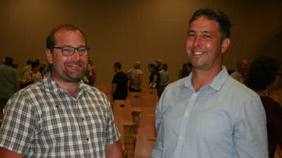Sie sind neu im Genossenrat Buochs: Josef Risi (links) und Josef Barmettler. (Bild: Sepp Odermatt, 25. Juni 2020)