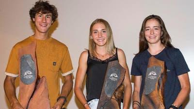 Die Award-Gewinner von links: Andri Moser, Siri Wigger und Mathilde Gremaud. (Bild: PD)