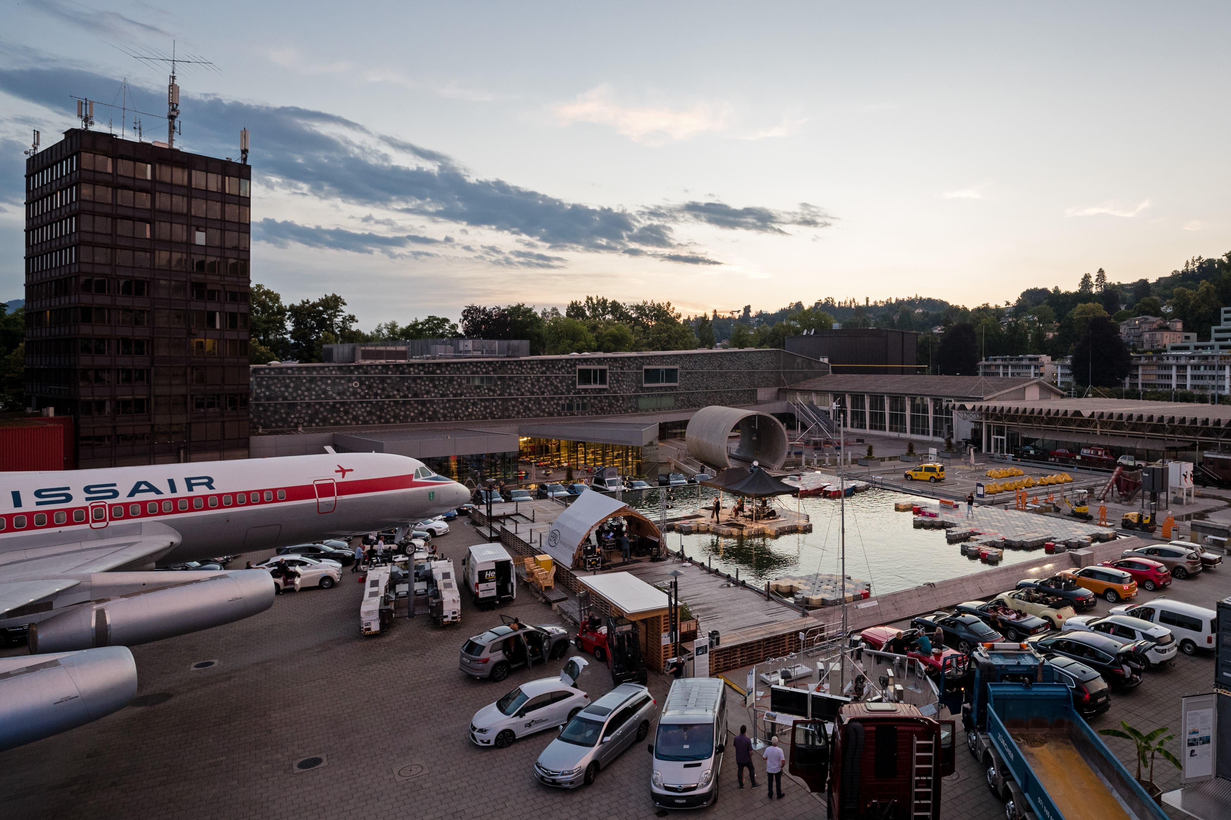 Nachdem am Nachmittag ein Gewitter über Luzern zog, blieb es am Abend trocken.