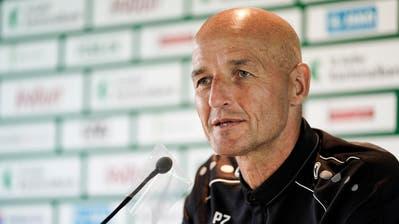 Gestern Spiel, heute Medientermin: FCSG-Trainer Peter Zeidler. (Archivbild: Fresfocus)