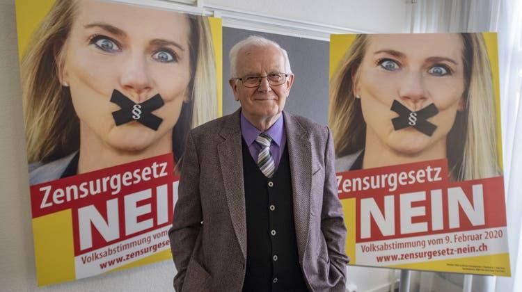 Der Kampf gegen die Ausweitung der Anti-Rassismusstrafnorm war Hans Mosers letzte Schlacht. (Keystone)