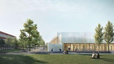 So soll die neue Mehrzweckhalle von Hitzkirch aussehen. (Visualisierung: PD)