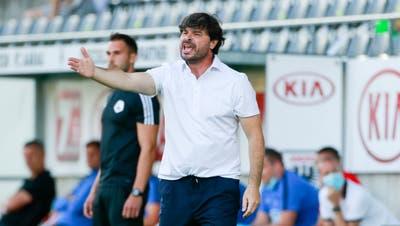 Wil-Trainer Ciriaco Sforza im Element. (Bild: Marc Schumacher/Freshfocus)