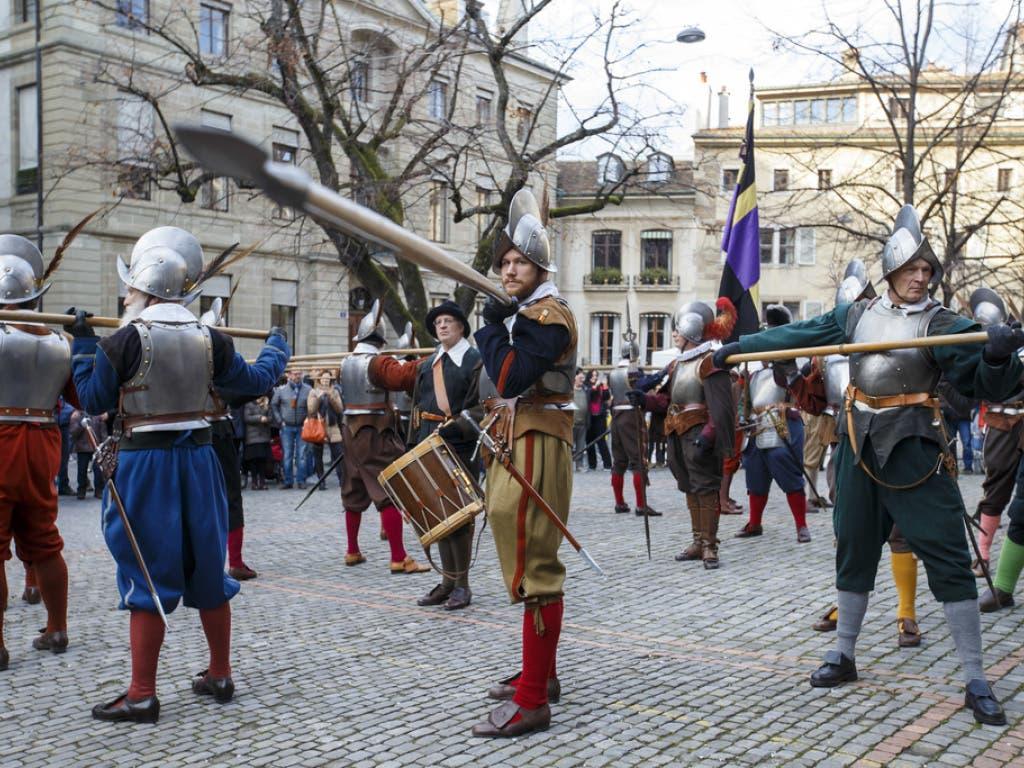 Die Parade an der Escalade gilt als der grösste historische Umzug in Europa.