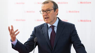 Markus Hongler, CEO der Mobiliar Versicherungen und Luzerner. (Peter Klaunzer/Keystone (9. April 2019, Bern))