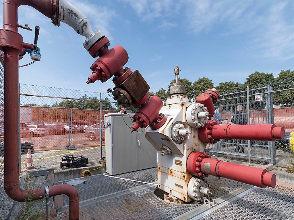 Wegen der Zunahme von Mikroerdbeben im Jahr 2017 wird beim 2011 verschlossenen Basler Geothermie-Bohrloch kontrolliert Druck abgelassen.
