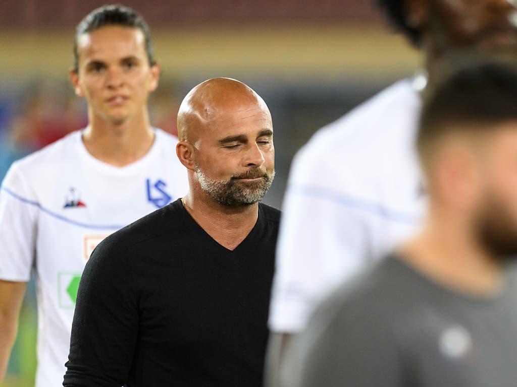 Neuerliche Enttäuschung für Giorgio Contini und seine Lausanner Mannschaft