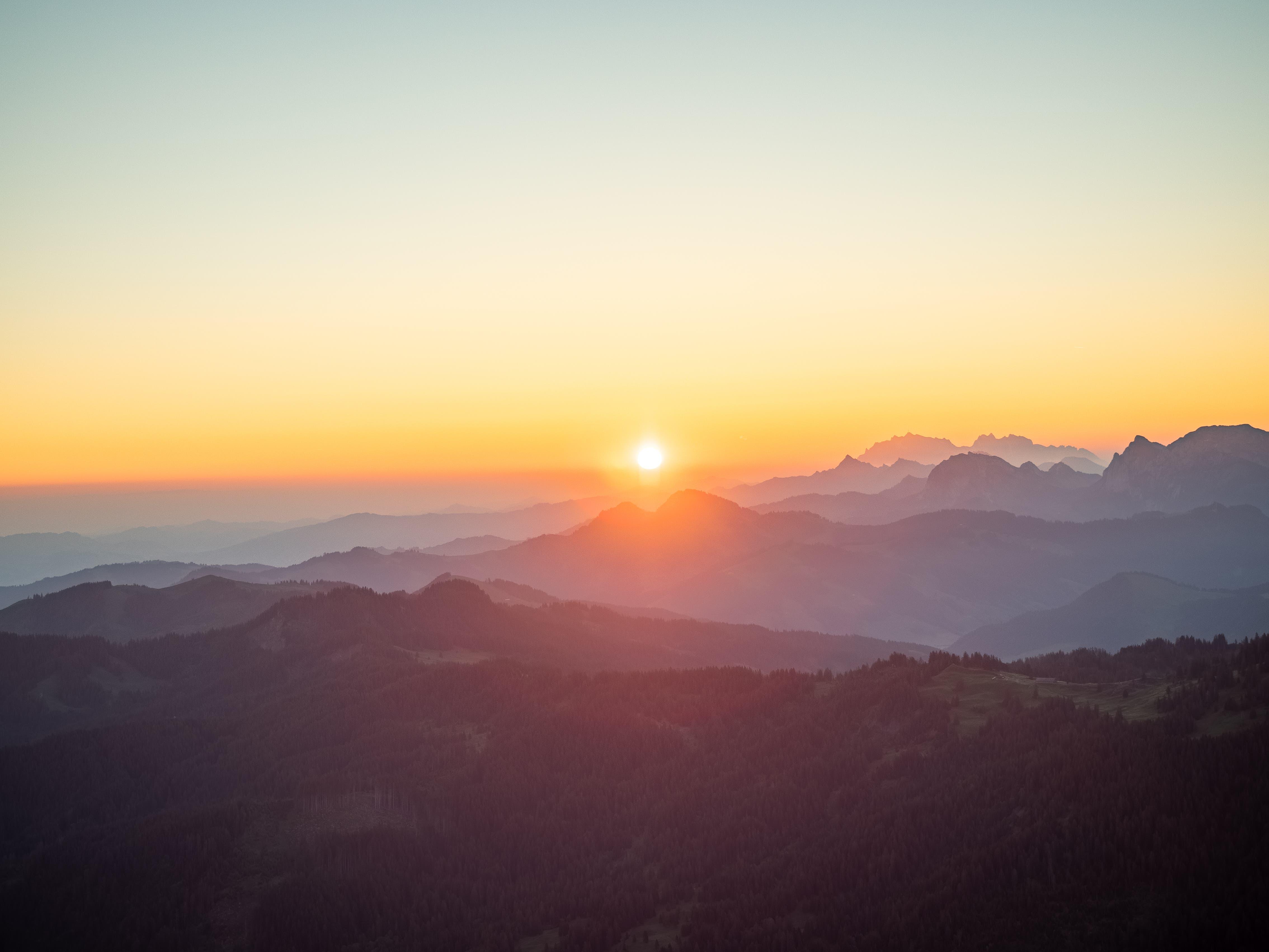 Sonnenaufgang auf dem Grossen Mythen.
