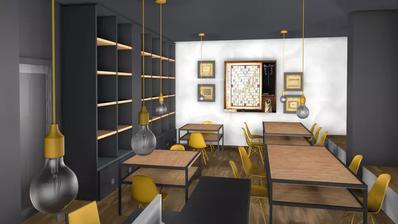 So soll das Café im Gameorama aussehen. (Visualisierung: PD)