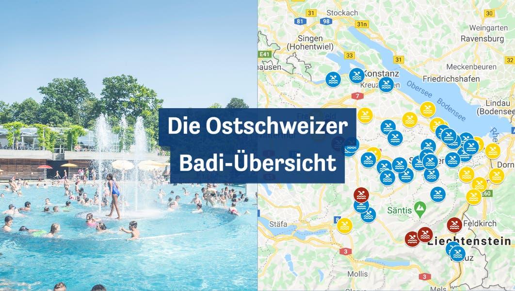 Die grosse Ostschweizer Badi-Übersicht: Sehen Sie hier, wann und wie Ihre Lieblingsbadi wieder öffnet