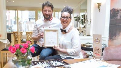 Tatjana Mahr und ihr Ehemann Norbert Mahr in ihrem Wiener Kaffeehaus. Das Lokal wurdein den Club der Wiener Kaffeehäuser aufgenommen. (Donato Caspari (25. Januar 2018))