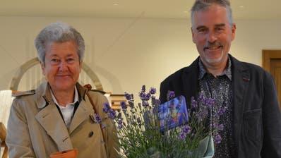 Die neue Kirchenpräsidentin Susanne Dschulnigg und ihr Vorgänger Thomas Leuch. ((Bild:Stefan Böker))