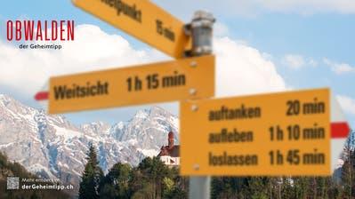 Die wahren Touristenmagnete sucht man in der Sommerkampagne von Obwalden Tourismus vergebens. (Bild: PD)