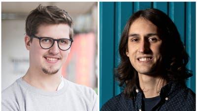 Die beiden Jungpolitiker Jona Studhalter (Junge Grüne, links) und Skandar Khan (Juso) kandidieren am 28. Juni erneut für den Luzerner Stadtrat. (Bilder: Manuela Jans-Koch und Corinne Glanzmann)
