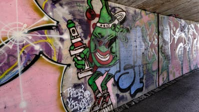 Die Unterführung Schlachthofstrasse Basel ist für Sprayer da (Kenneth Nars / BLZ)