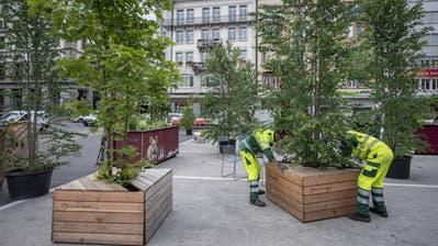 Vier-gewinnt-Spiel, Strandkörbe und Kunstrasen für die Luzerner Pop-up-Parks