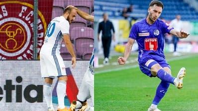 FCL-Verteidiger Otar Kakabadse liess sich gegen Lugano gleich zwei Assists gutschreiben. (Bild: Martin Meienberger/freshfocus (Luzern, 12. Juli 2020))