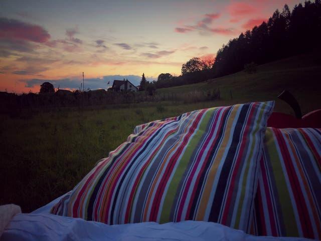 Wir haben das Himmelbett in Hüttwilen getestet: Wie die Nacht unter freiem Himmel war und welches Tier sich ins Bett geschlichen hat