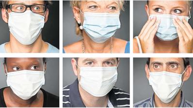 Tragen wir eine Maske, dringt das Lächeln nicht durch. Augen und Brauen können es nicht richtig ersetzen. Ohne Maske erkennen wir auch nur 60 Prozent der Gefühle des Gegenübers. (Bild: Gaëtan Bally/Keystone)