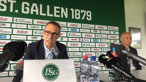 Der FCSG verlängert den Vertrag mit Sportchef Alain Sutter und mit Trainer Peter Zeidler bis 2025