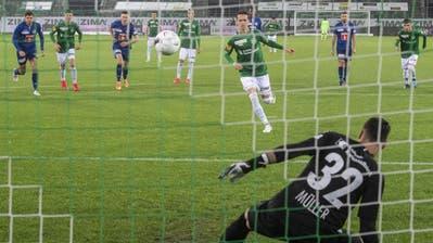 St. Gallens Cedric Itten, rechts, jubelt nach seinem Tor zum 2:0 mit St. Gallens Jordi Quintilla. (Bild: Keystone (St. Gallen, 16. 7. 2020))