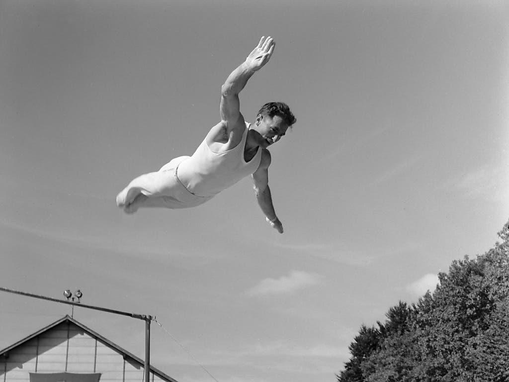 Sepp Stalder ging bei den Olympischen Spielen 1948 und 1952 in London und Helsinki hoch hinaus