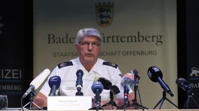 Polizeipräsident Reinhard Renter appelliert an die Vernunft des Flüchtigen. (Keystone)