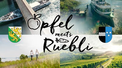 Die Kampagne «Öpfel meets Rüebli» zeigt: Der Thurgau und der Aargau sind sich ähnlich. (Bild: PD)