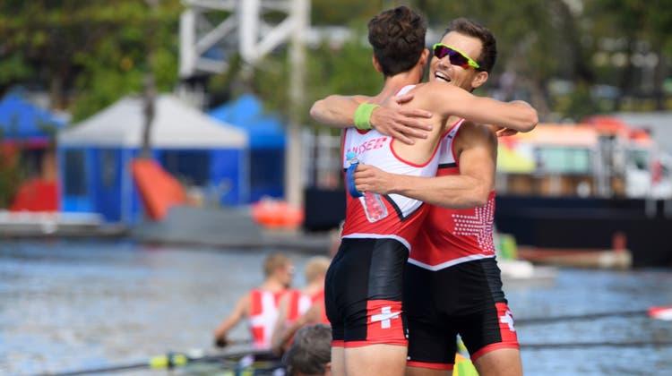 Eine Sternstunde im Leichtgewichtsrudern: Der Vierer holt in Rio souverän Olympiagold. (Laurent Gillieron / Keystone (11. August 2016))