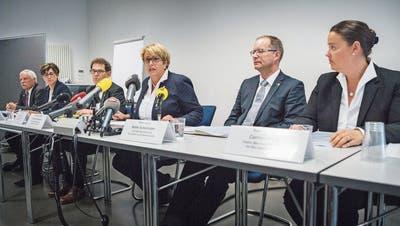 Im Anschluss an die Präsentation des unabhängigen Untersuchungsbericht zum Fall Hefenhofen stellte der Thurgauer Regierungsrat in Aussicht, Erkenntnisse daraus umzusetzen. (Bild: Andrea Stalder (Frauenfeld, 31. Oktober 2018))